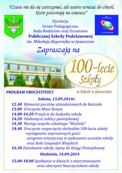 100-lecie szkoły w Jaworznie