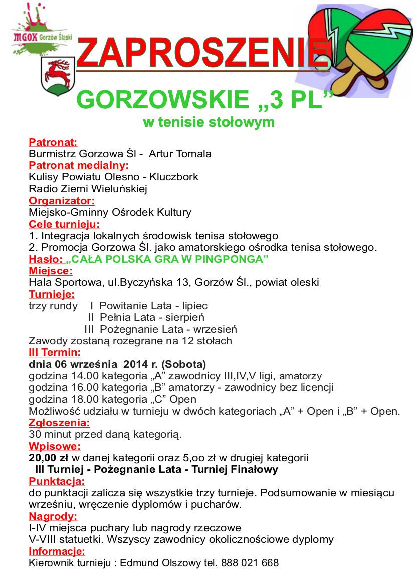 "Gorzowski ""3PL"" – III Runda"