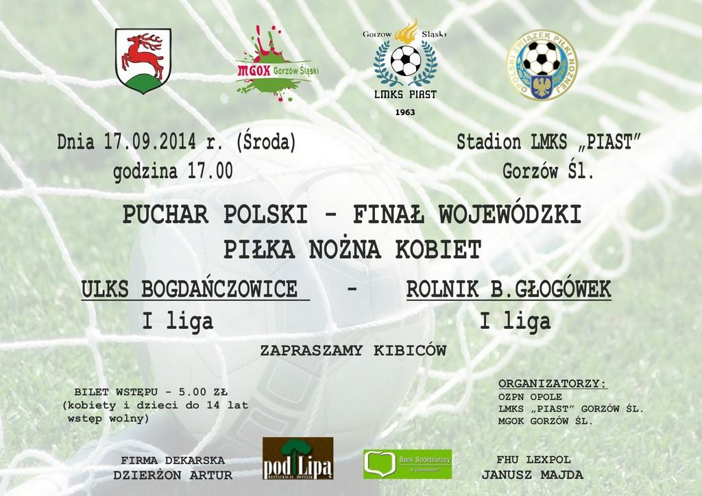 Puchar Polski – Finał Wojewódzki Piłki Nożnej Kobiet