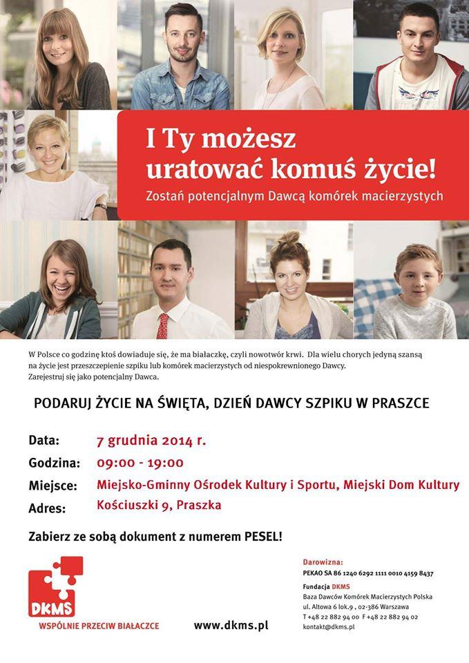 Dzień Dawcy Szpiku w Praszce