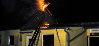Pożar budynku usługowego w Dobrodzieniu