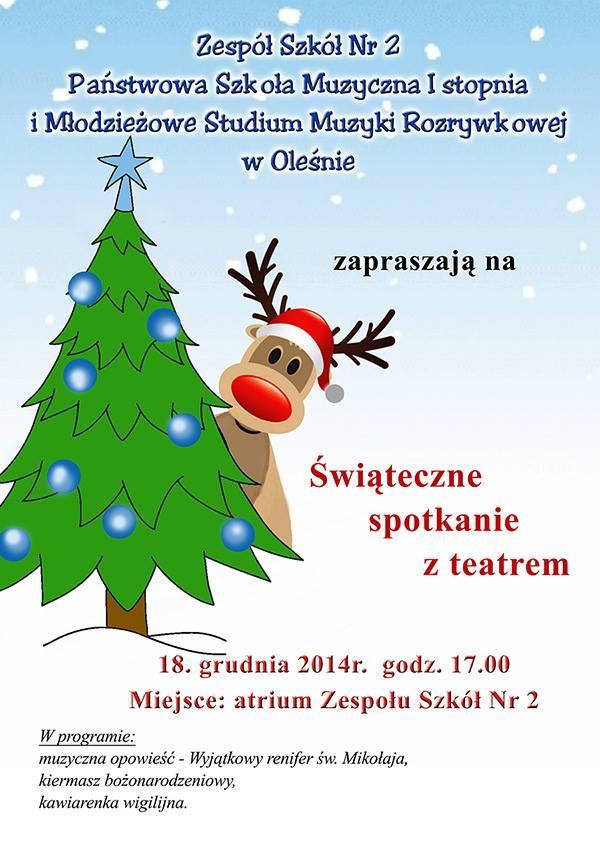 Zapraszamy na Świąteczne Spotkanie z Teatrem