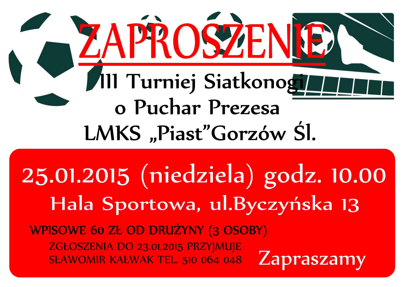 III Turniej Siatkonogi – Gorzów Śląski
