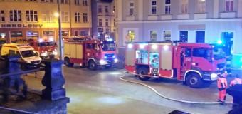 Pożar w centrum Olesno