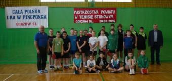 Mistrzostwa Powiatu Oleskiego w tenisie stołowym – Gorzów Śląski