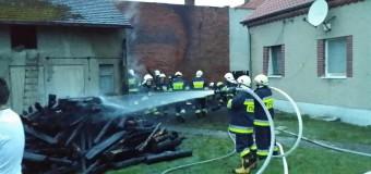 Pożar budynku gospodarczego w Gosławicach