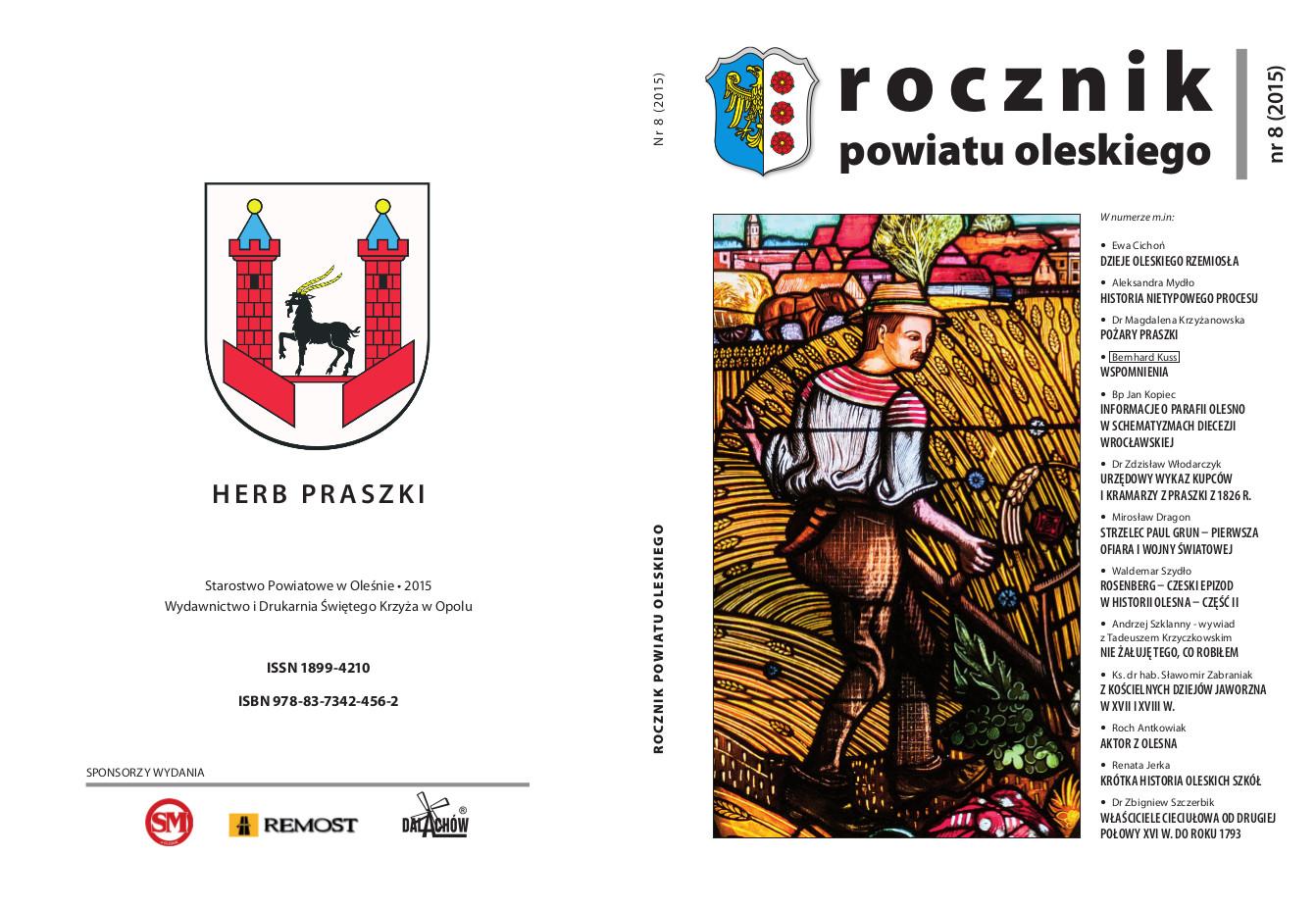 Ukazał się ósmy numer Rocznika Powiatu Oleskiego