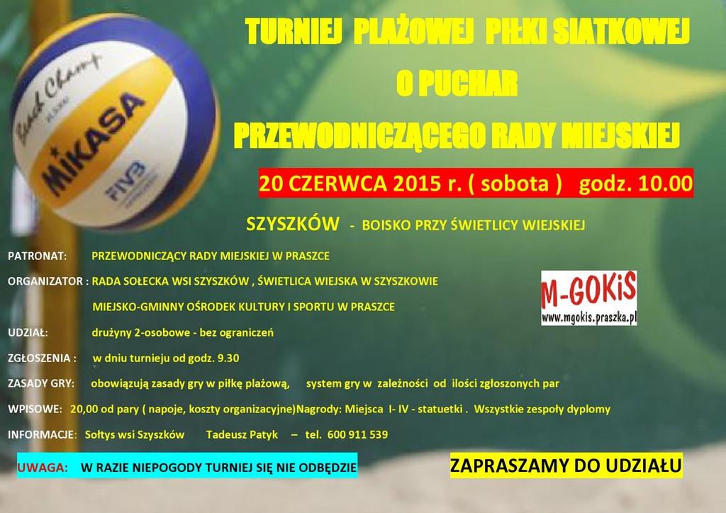 Turniej Plażowej Piłki Siatkowej – Szyszków