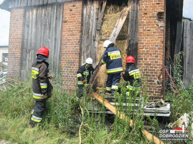 Niebezpieczny pożar w Kocurach