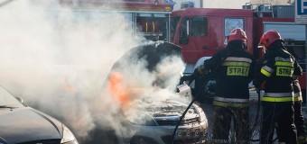 Pożar samochodu w centrum Olesna