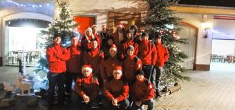 Święty Mikołaj odwiedził strażakówz Dobrodzienia