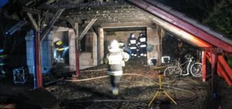 Pożar budynku garożowo-gospodarczego w Pludrach