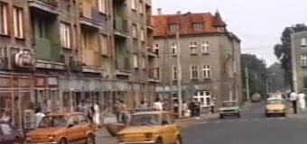 Spacer ulicami Olesna w 1986 roku