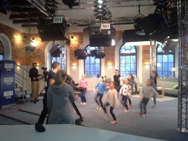 Oleskie gimnastyczki w telewizji