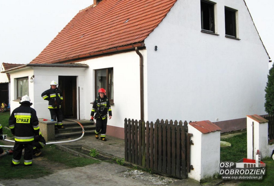 Pożar budynku mieszkalnego w Szemrowicach