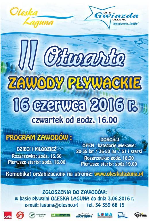 II Otwarte Zawody Pływackie – Olesno