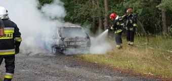 W Leśnej doszczętnie spłonął samochód