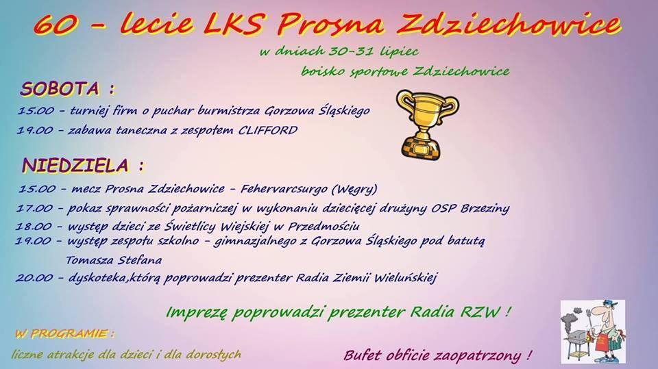 60-lecie LKS-u Prosna Zdziechowice