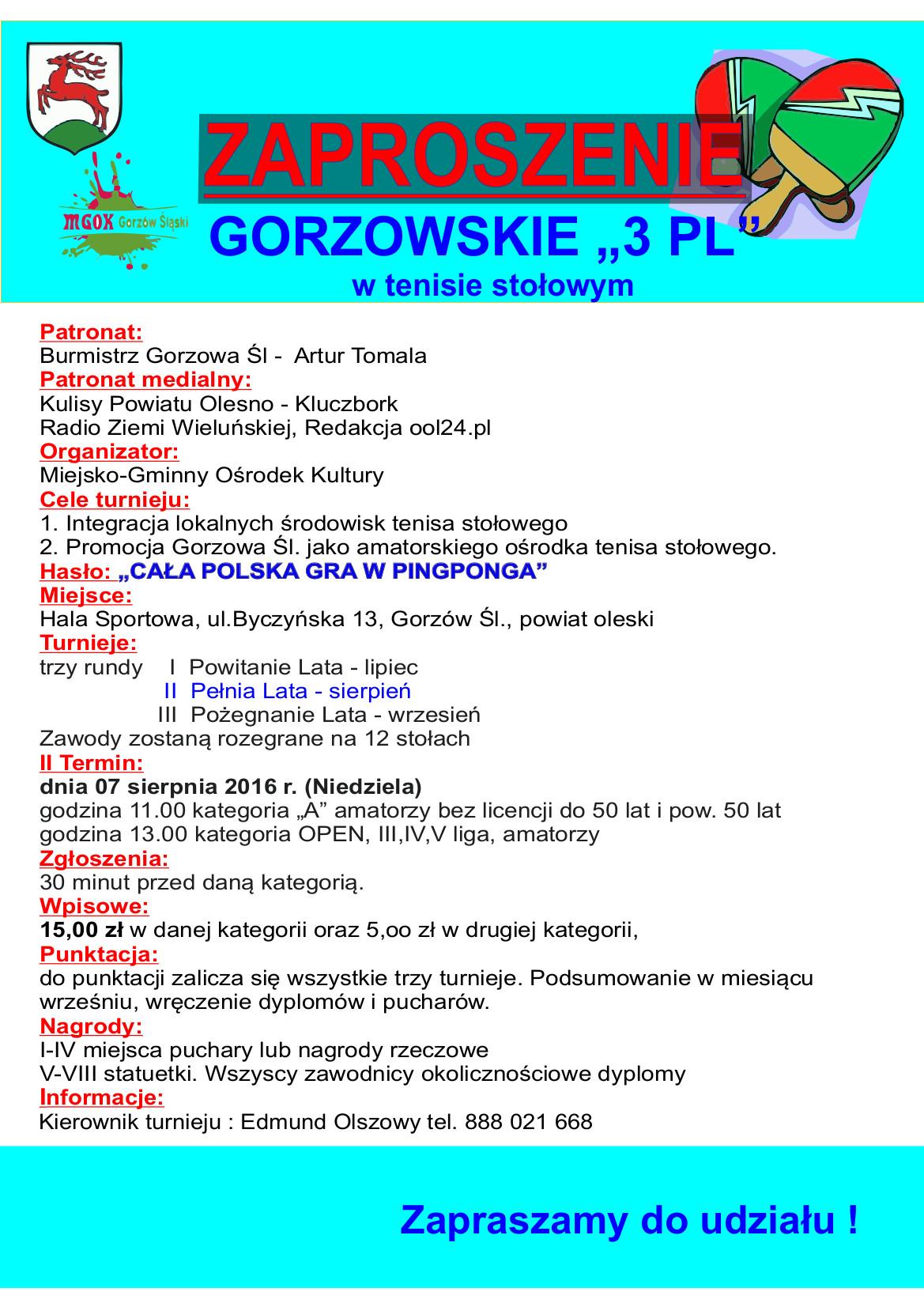 """Gorzowskie """"3 PL"""" – II runda"""