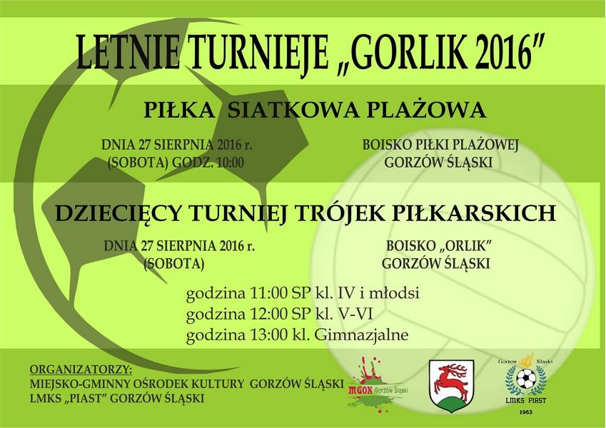 Letnie Turniej – Gorlik 2016 – Gorzów Śląski