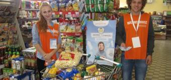 Olescy uczniowie zebrali prawie pół tony żywności dla potrzebujących