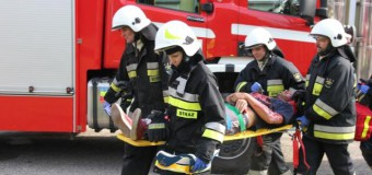 Ewakuacja i pożar w piwnicy szpitala (ćwiczenia)