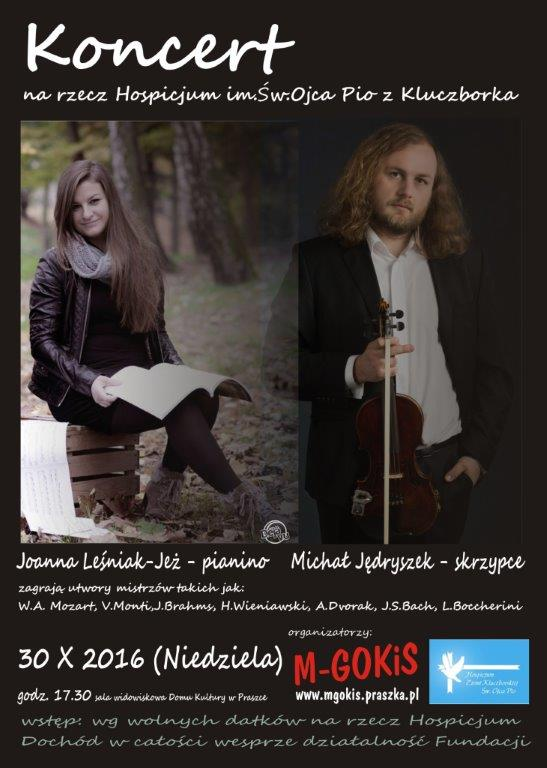 Koncert na rzecz Hospicjum w Kluczborku – Praszka