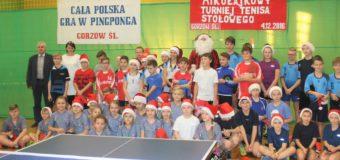 Mikołajkowy Turniej Tenisa Stołowego w Gorzowie Śląskim