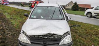 Wypadek dwóch samochodów w Bzinicy