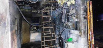 Pożar hali w Dobrodzieniu