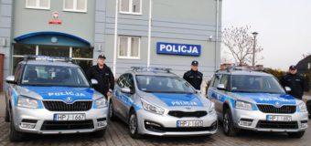 Trzy nowe radiowozy policji