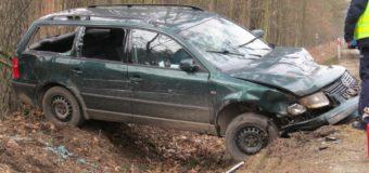 Wypadek na trasie Olesno-Boroszów. Dwie osoby poszkodowane