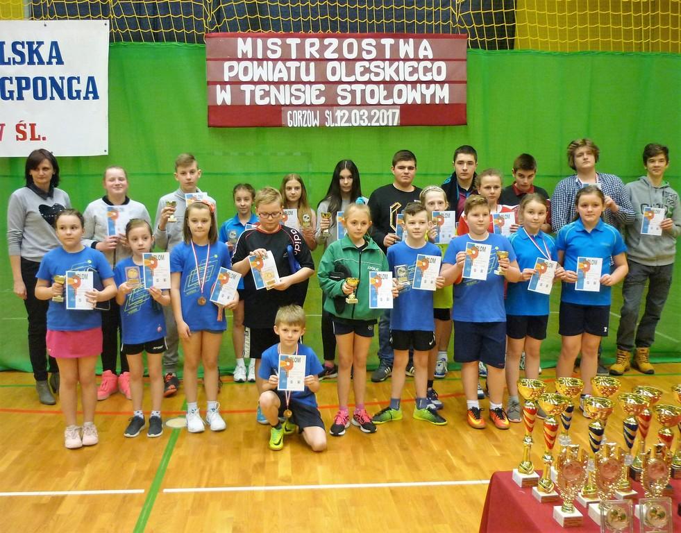 Mistrzostwa Powiatu Oleskiego w tenisie stołowym