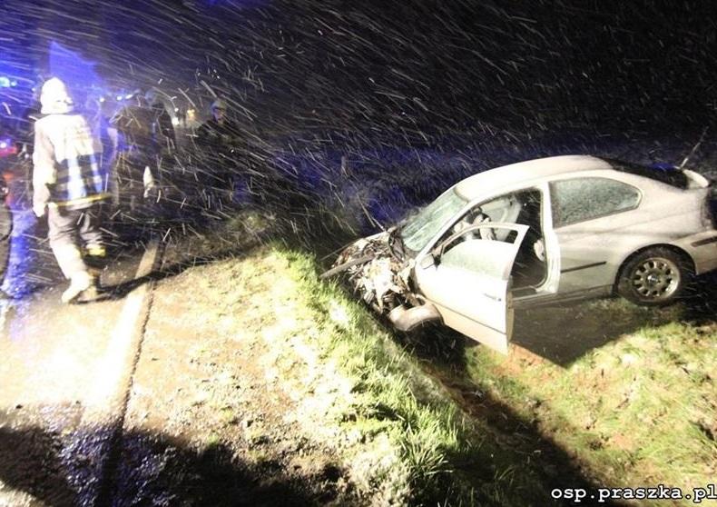 Niedostosowanie prędkości prawdopodobną przyczyną wypadku