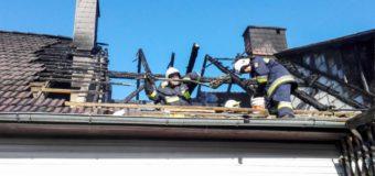 Pożar poddasza budynku mieszkalnego