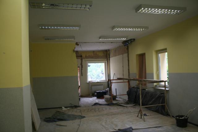 Trwa remont nowego oddziału przedszkolnego w Oleśnie