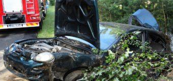 Wypadek na trasie Olesno-Kolonia Biskupska