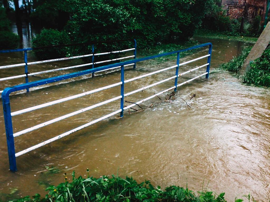 Powódź w Oleśnie w 2010 roku.