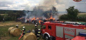 Pożar sterty słomy w Pakoszowie. Prawdopodobnie podpalenie