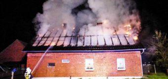 Pożar budynku mieszkalnego w Klekotnej