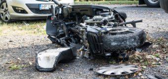 Poważny wypadek z udziałem motocykla w Zębowicach