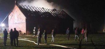 Pożar obory w Sowczycach. Kolejne podpalenie w tym samym gospodarstwie
