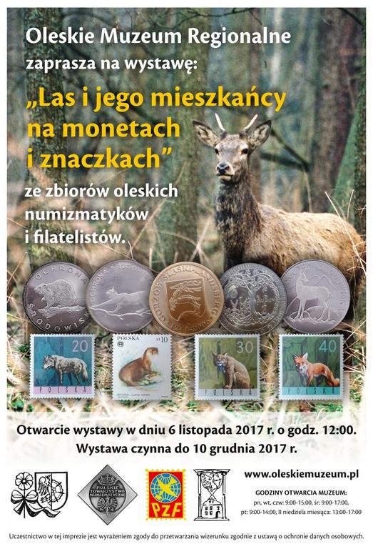 Las i jego mieszkańcy na monetach i znaczkach – wystawa w oleskim muzeum