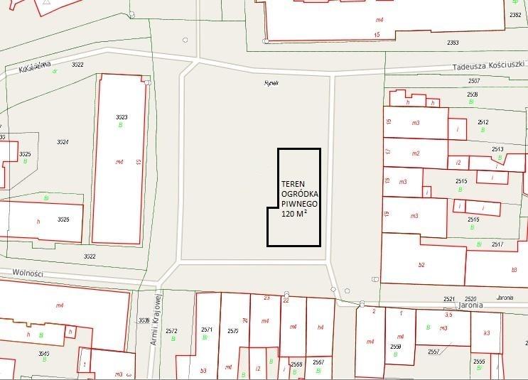 """Ogłoszenie o przetargu nieograniczonym  na dzierżawę nieruchomości gminnej  """"ogródka piwnego""""  w obrębie rynku miejskiego"""