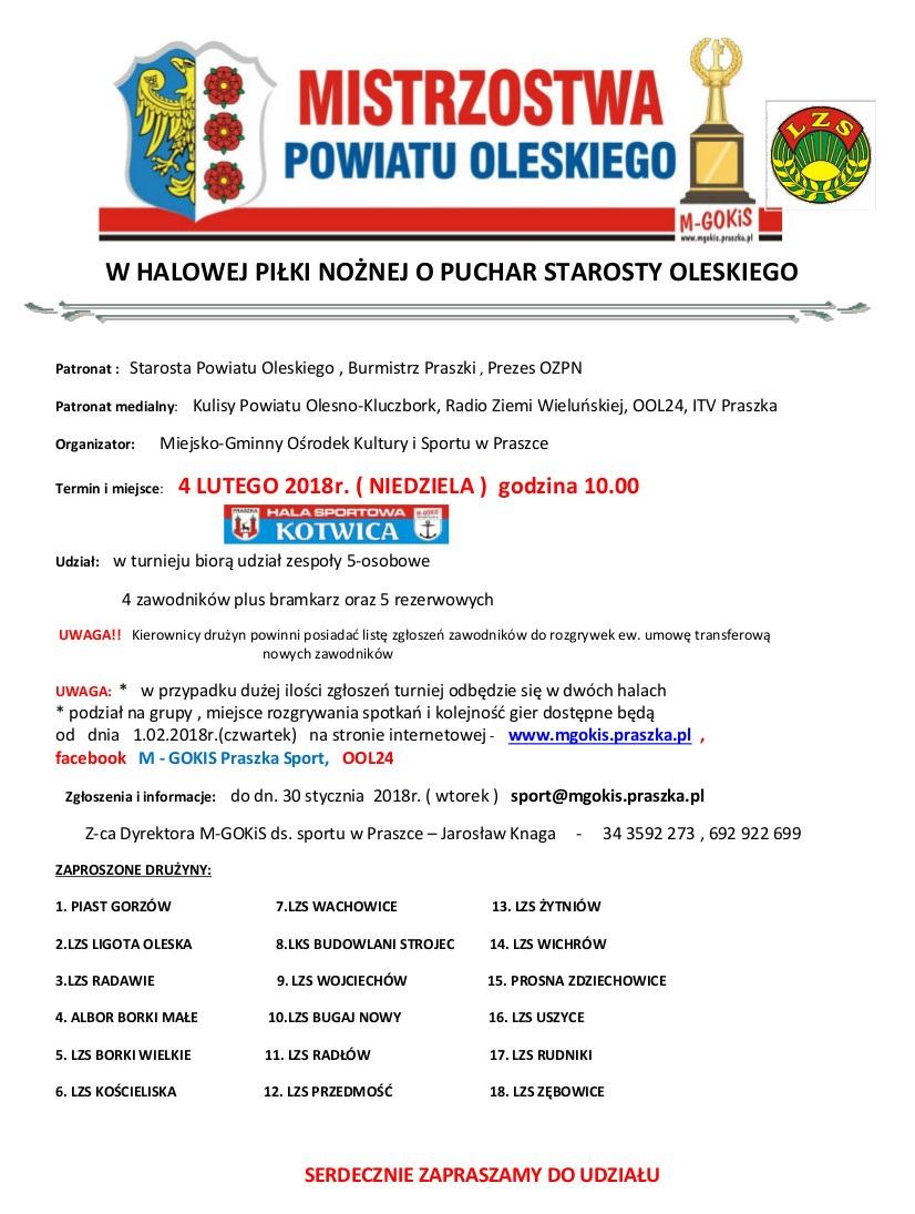 Mistrzostwa Powiatu Oleskiego w piłce nożnej