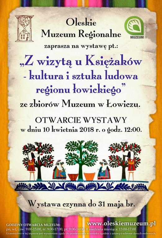 Z wizytą u Księżaków – kultura i sztuka ludowa regionu łowickiego – Oleskie Muzeum Regionalne