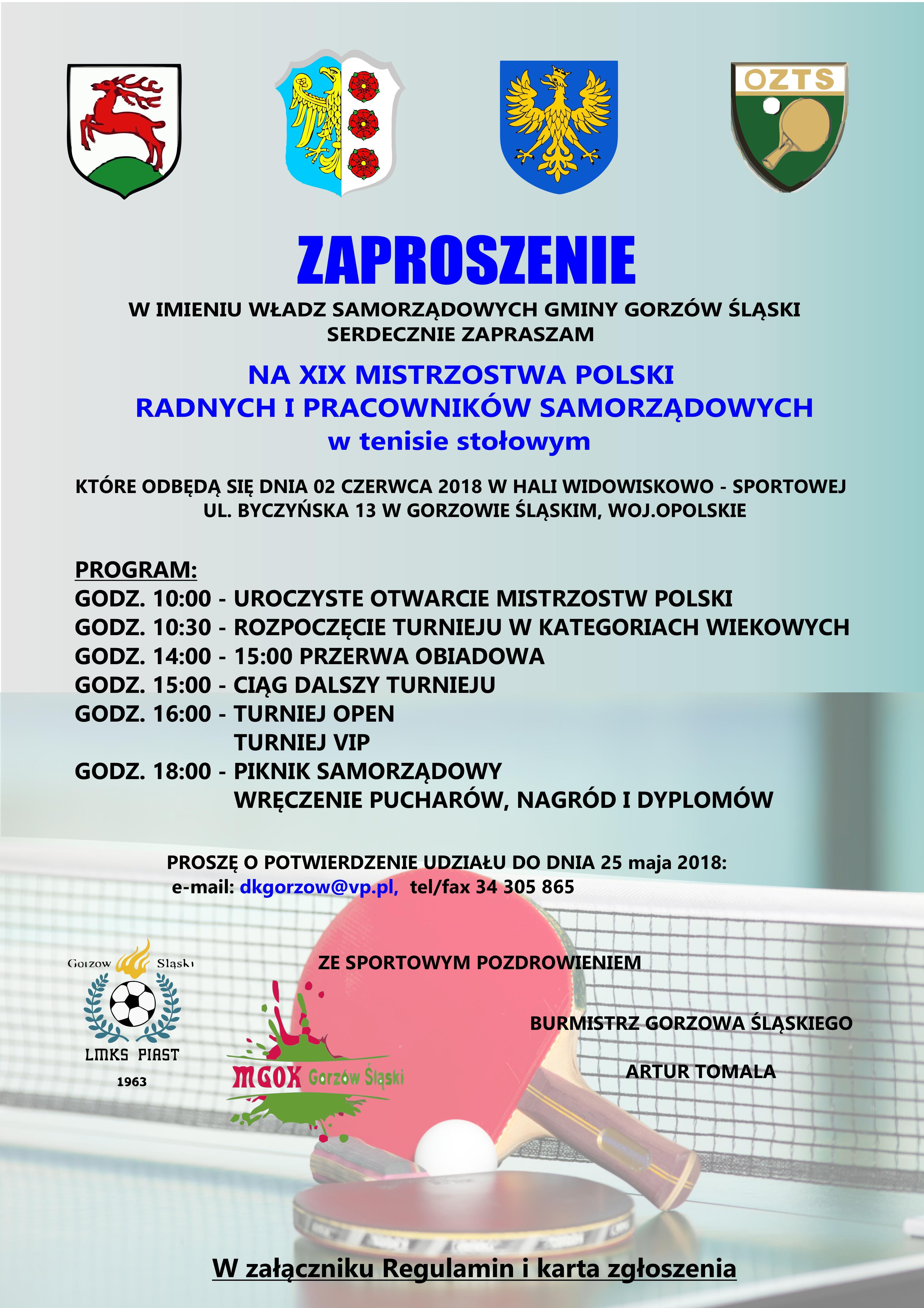 XIX Mistrzostwa Polski Radnych i Pracowników Samorządowych – Gorzów Śląski