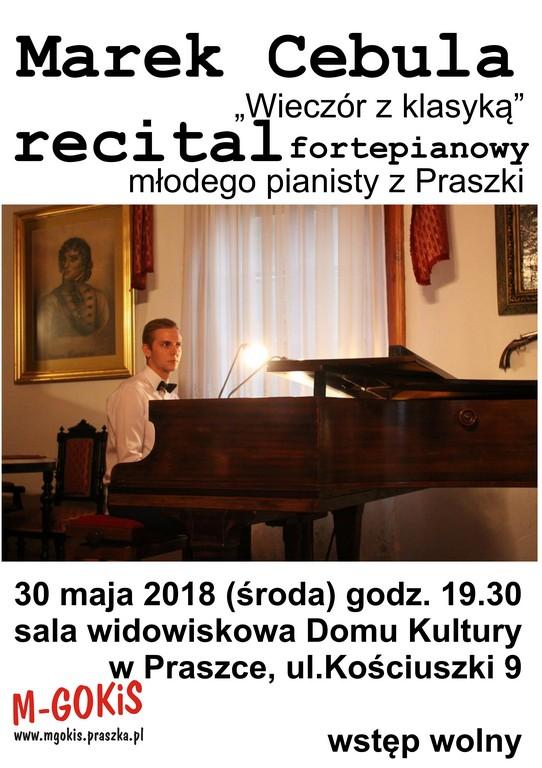 Marek Cebula – Recital Fortepianowy – Praszka