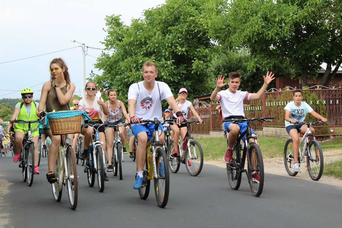 Rowerem przez świat po gminie Praszka