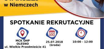 MedCare24 zaprasza na spotkanie rekrutacyjne w Oleśnie! Poszukujemy Opiekunki/Opiekunów do osób starszych w Niemczech!